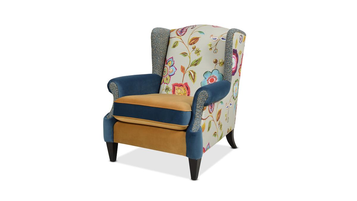 Anya Arm Chair, Floral & Leopard