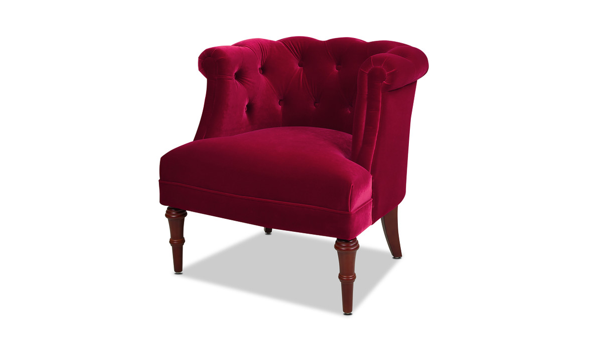 Katherine Tufted Accent Chair, Siren Red