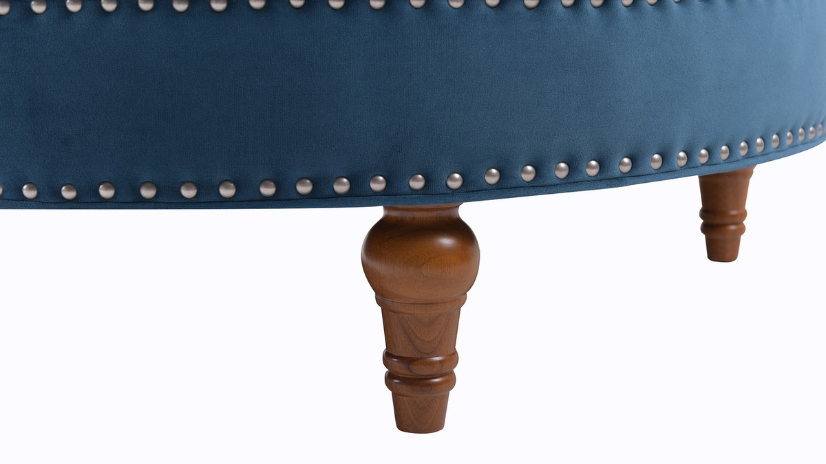 Marvelous Josephine Round Tufted Cocktail Ottoman Satin Teal Andrewgaddart Wooden Chair Designs For Living Room Andrewgaddartcom