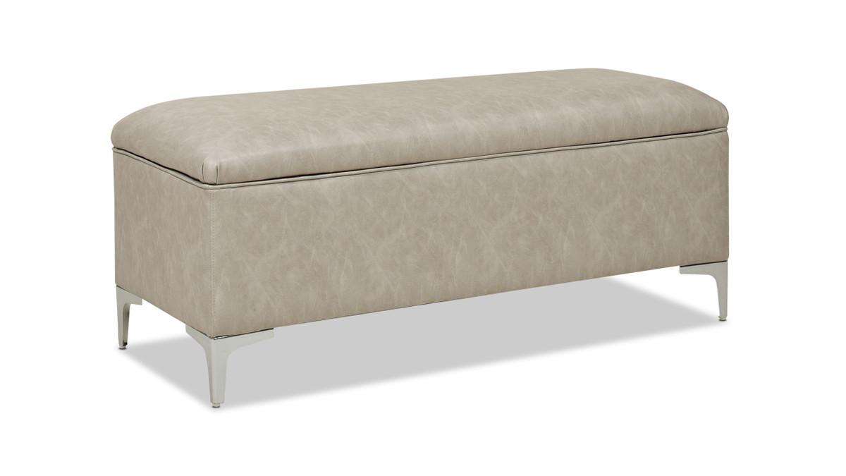 "Madelyn 49"" Modern Storage Bench, Dove Gray"