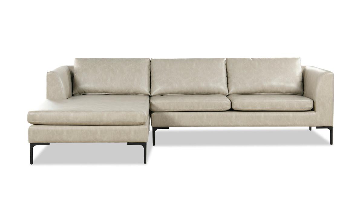 "Weylyn 102"" LAF Chaise Sectional Sofa, Dove Gray"
