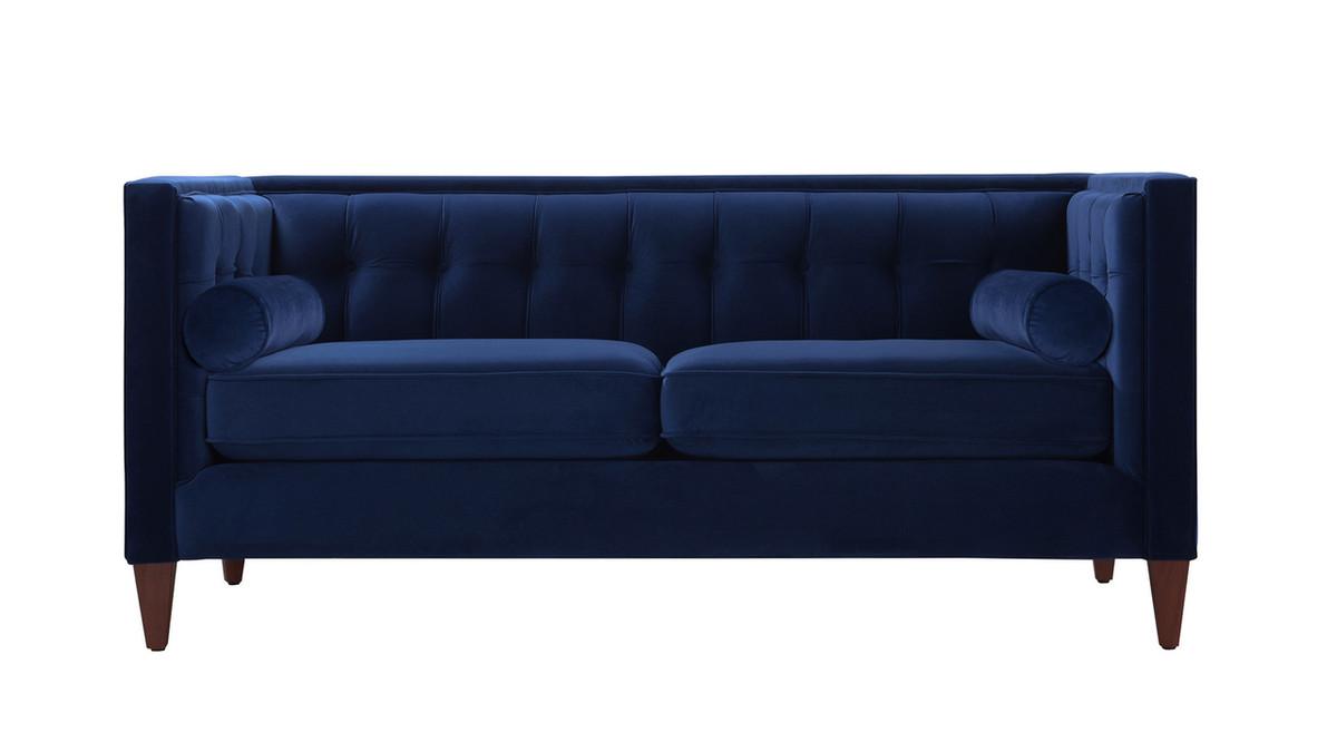 Jack Tuxedo Loveseat, Navy Blue