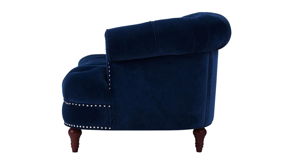 La Rosa Chesterfield Sofa Navy Blue Jennifer Taylor Home