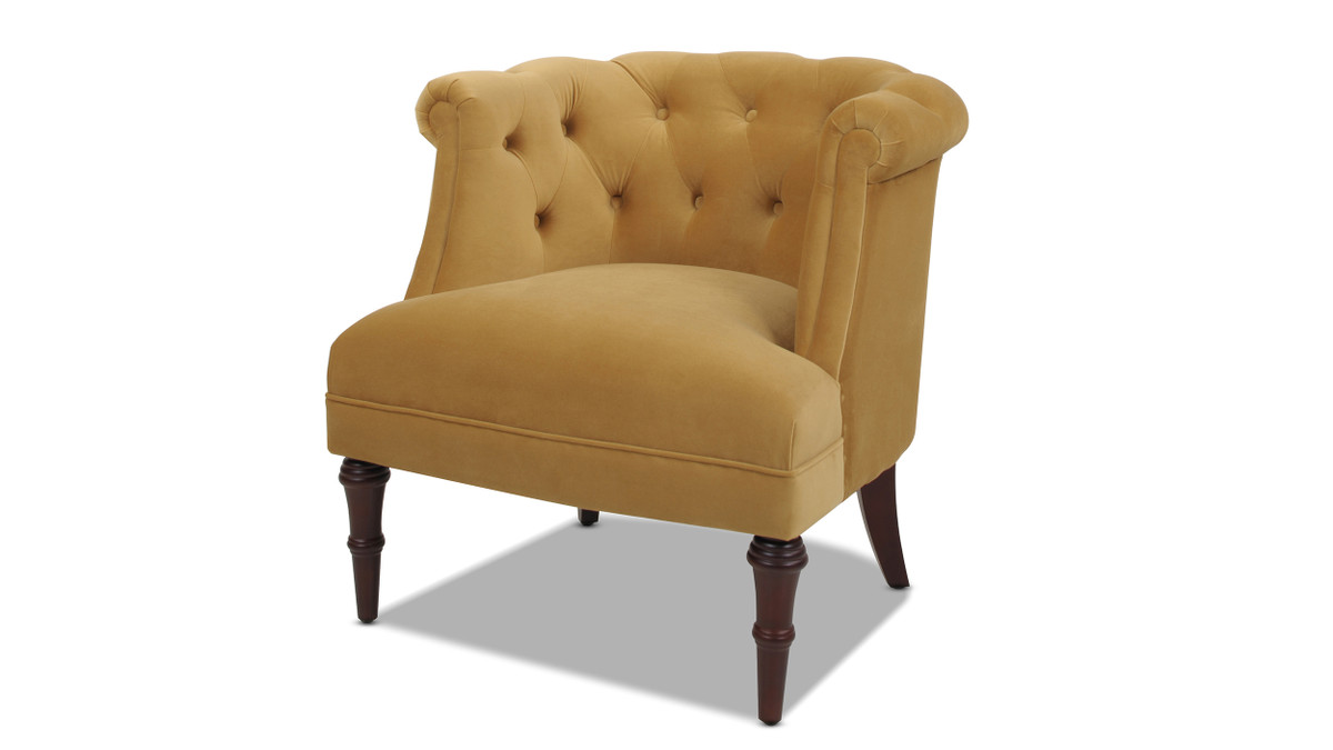 Katherine Tufted Accent Chair, Gold