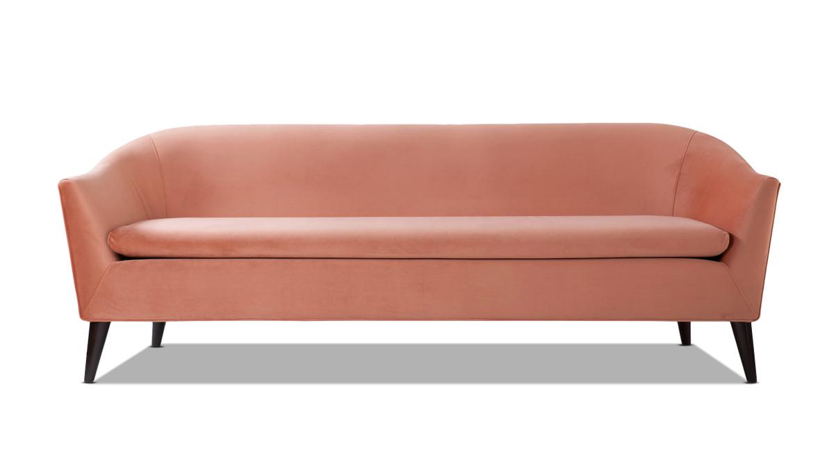 Lia Mid-Century Modern Sofa, Orange