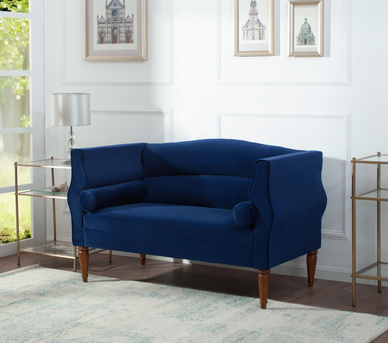 Fabulous Joanna Camel Back Uptown Loveseat Navy Blue Onthecornerstone Fun Painted Chair Ideas Images Onthecornerstoneorg