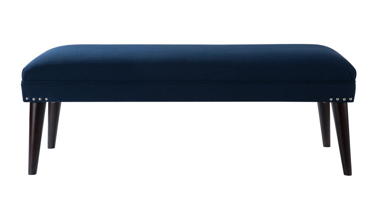 Nadine Entryway Bench, Midnight Blue