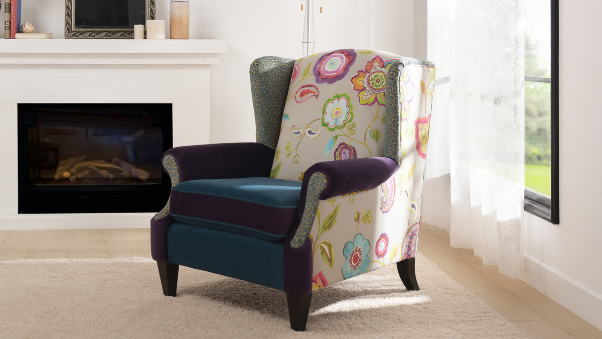 Picture of: Anya Arm Chair Floral Jennifer Taylor Home