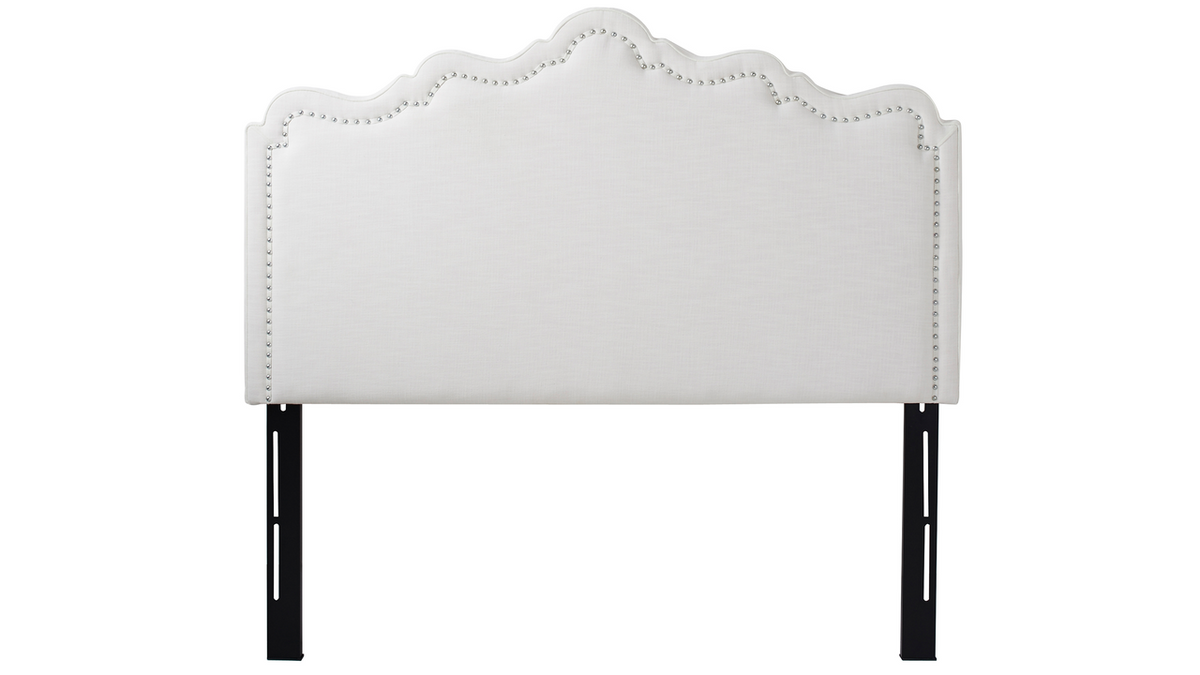 Ela Upholstered Headboard, Antique White (Queen Size)