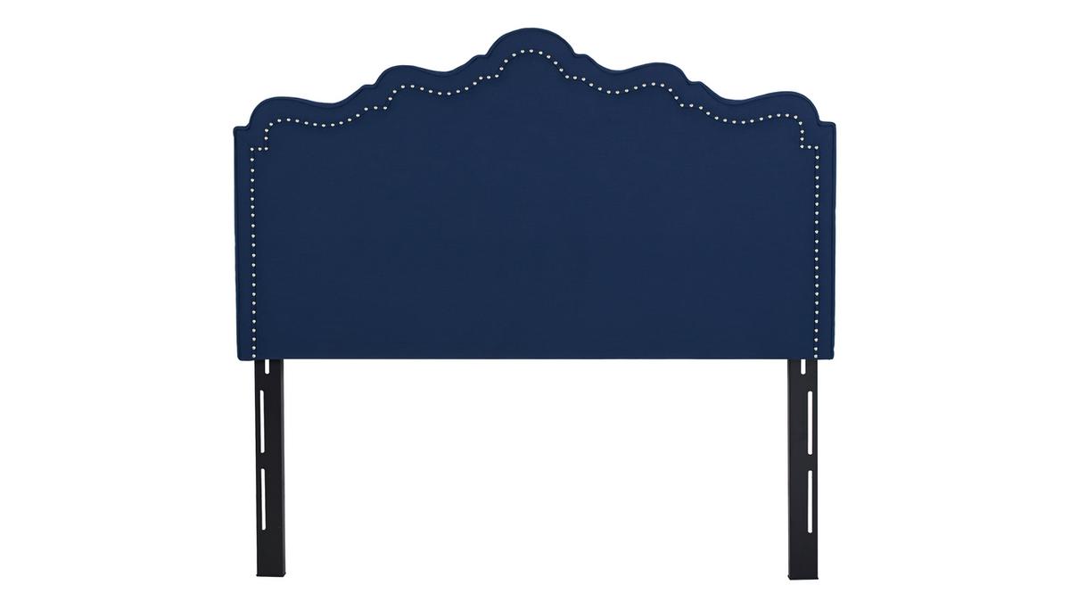 Ela Upholstered Headboard, Midnight Blue (Queen Size)