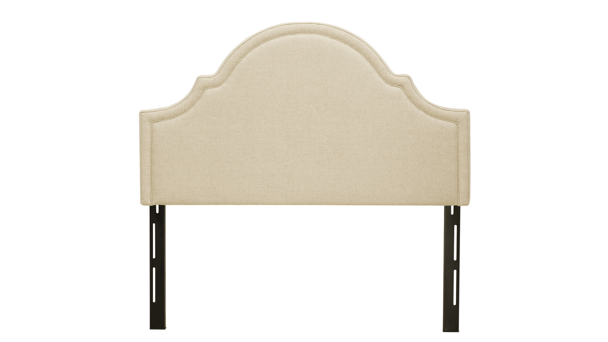 Catherine Upholstered Headboard, Wood Ash (Queen Size)