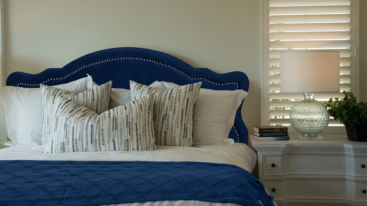 Picture of: Legacy Upholstered Headboard Navy Blue King Size Jennifer Taylor Home