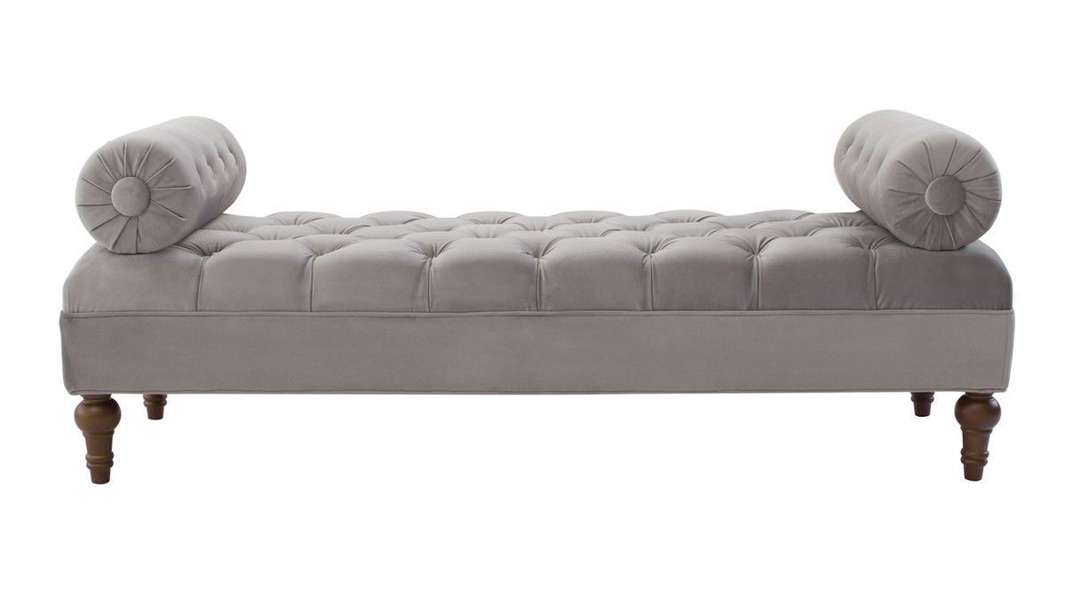Lewis Bolstered Lounge Entryway Bench, Opal Grey