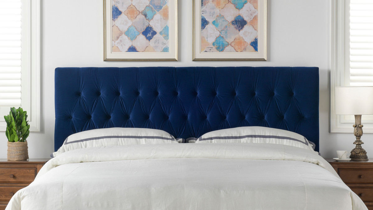 Picture of: Maya Tufted Headboard Navy Blue King Size Jennifer Taylor Home