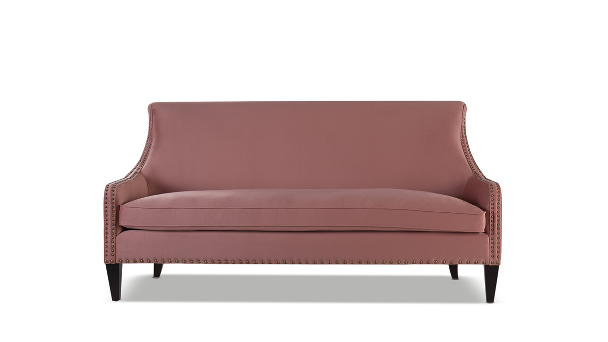 Florence Tight Back Sofa, Ash Rose