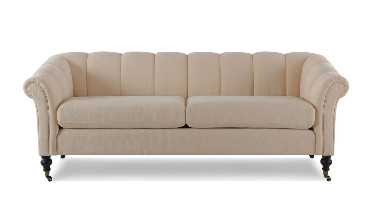 Julia Flared Arm Sofa, Crème Brulee
