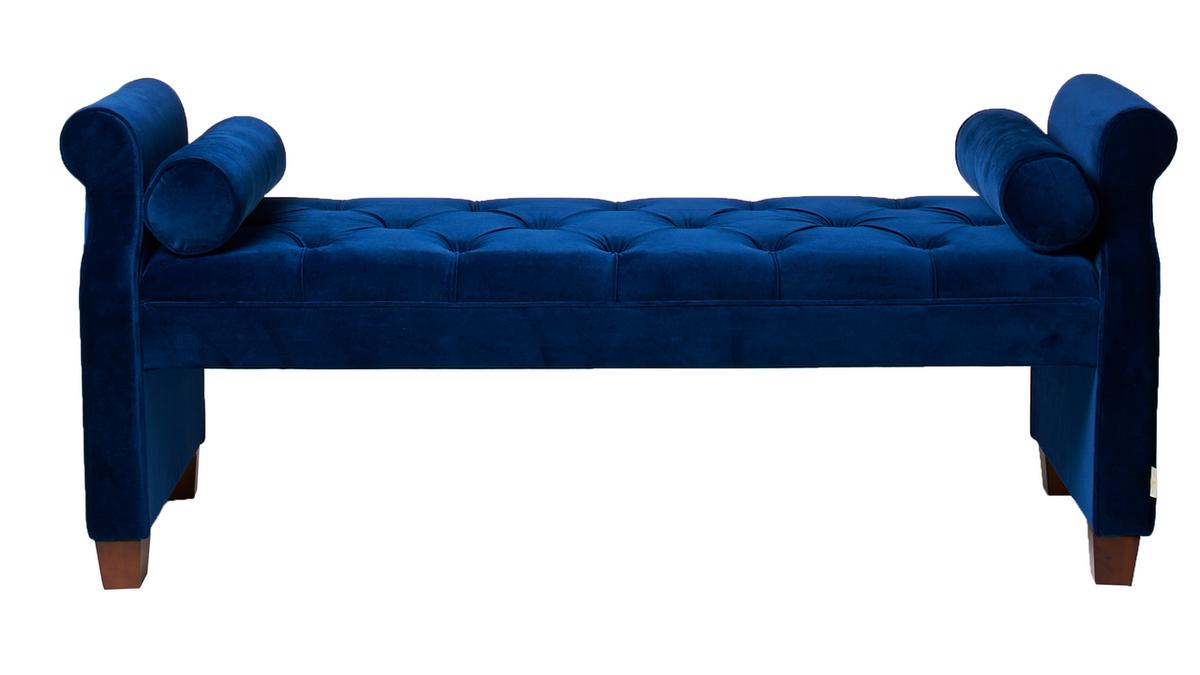"Jocelyn 60"" Roll Arm Lounge Entryway Bench"