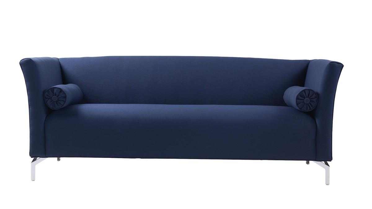 Camilla Mid-Century Modern Sofa, Midnight Blue
