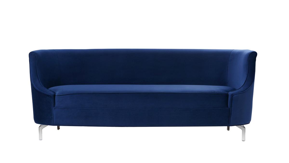 Harper Upholstered Sofa, Navy Blue