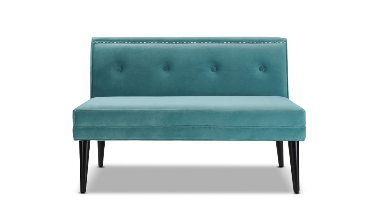 Madison Accent Settee, Arctic Blue