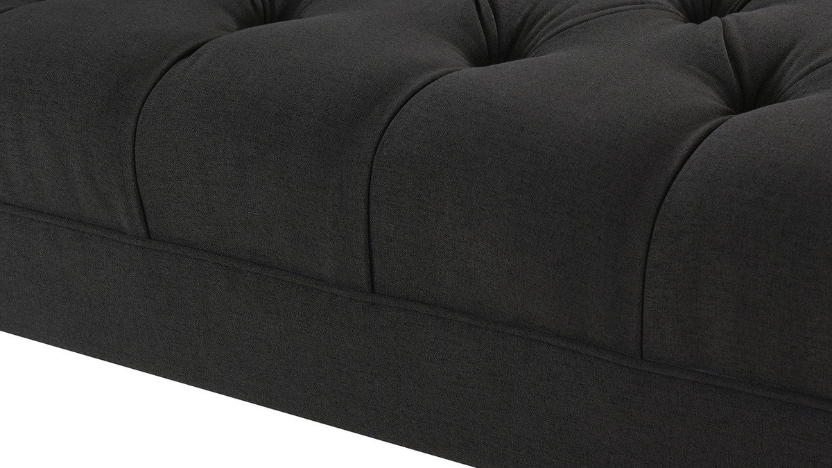 Harrison Tufted Chaise Lounge Jet Black Jennifer Taylor Home