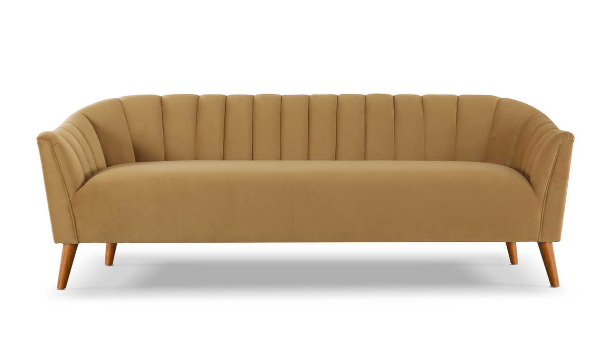 "Sienna 81"" Channel Tufted Sofa"