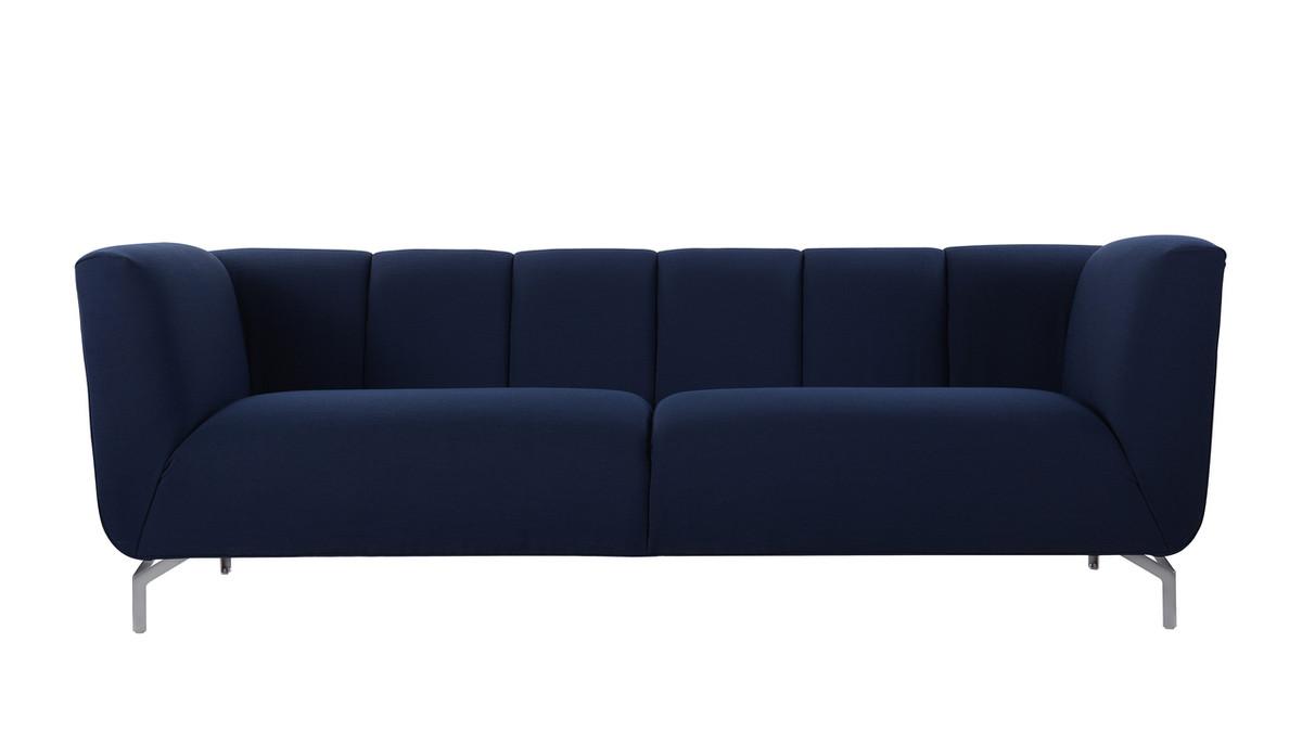 Abella Modern Contemporary Sofa, Midnight Blue