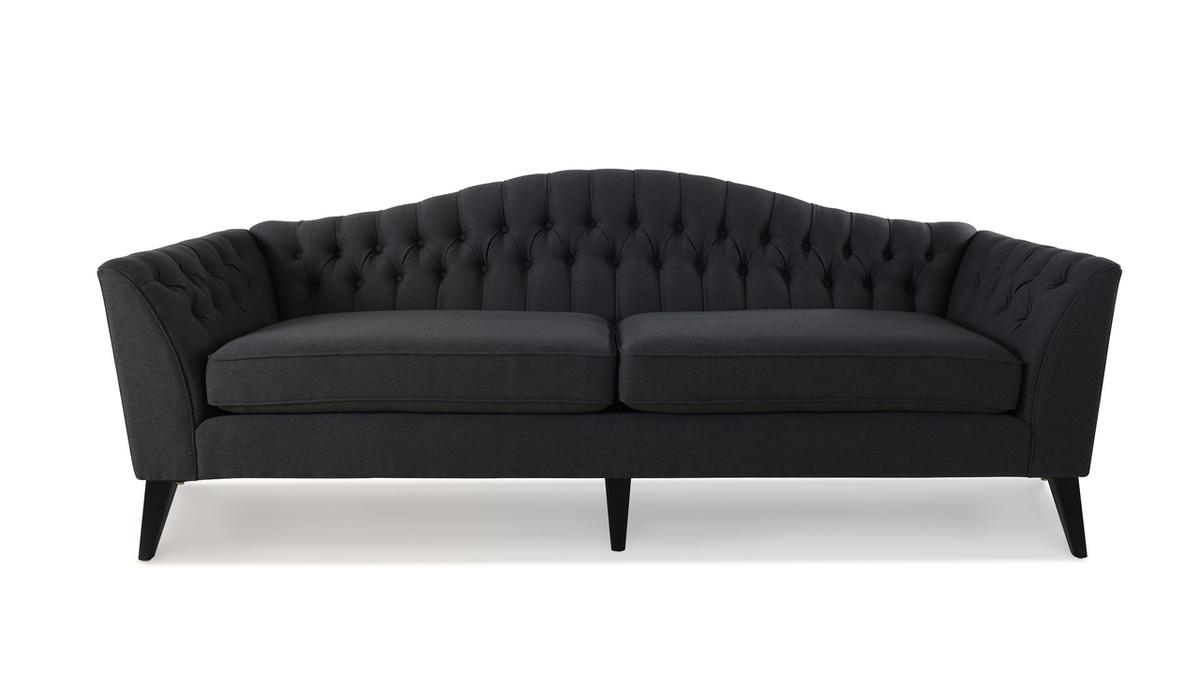 Ramsey Camelback Sofa, Dark Grey