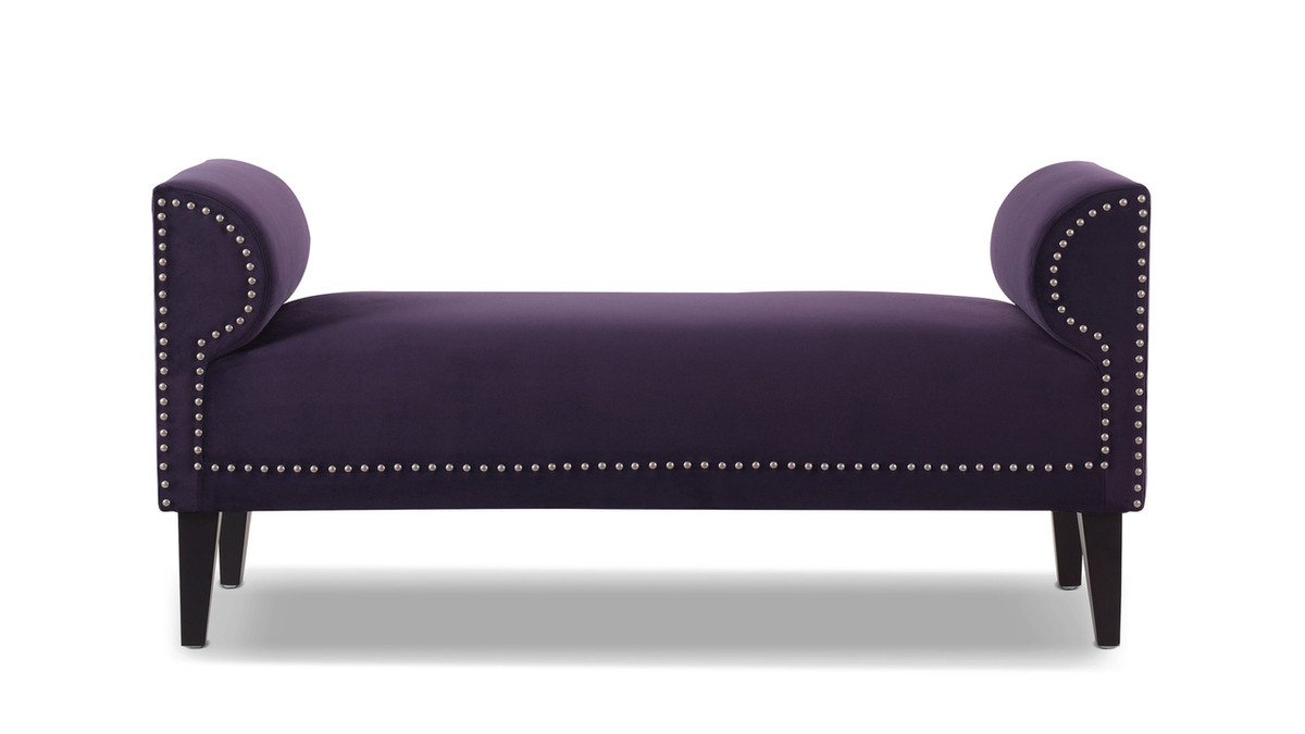 """Paloma 51"""" Roll Arm Upholstered Bench"""