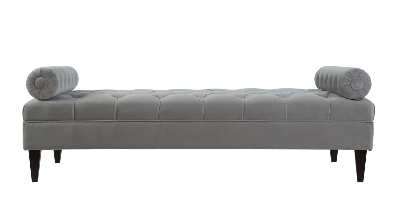 Robert Tufted Sofa Bed Opal Grey Jennifer Taylor Home