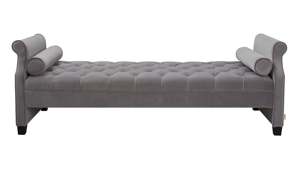 Eliza Upholstered Sofa Bed Opal Grey Jennifer Taylor Home