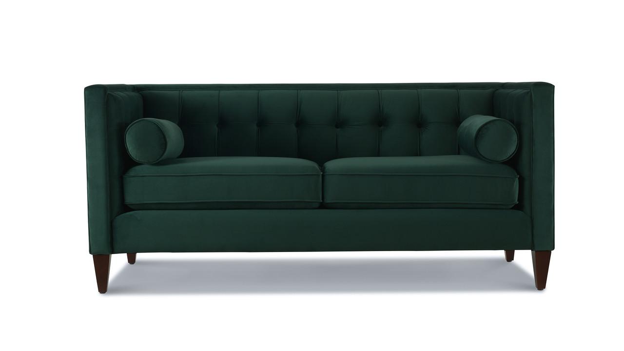 Brilliant Jack Tuxedo Loveseat Hunter Green Customarchery Wood Chair Design Ideas Customarcherynet