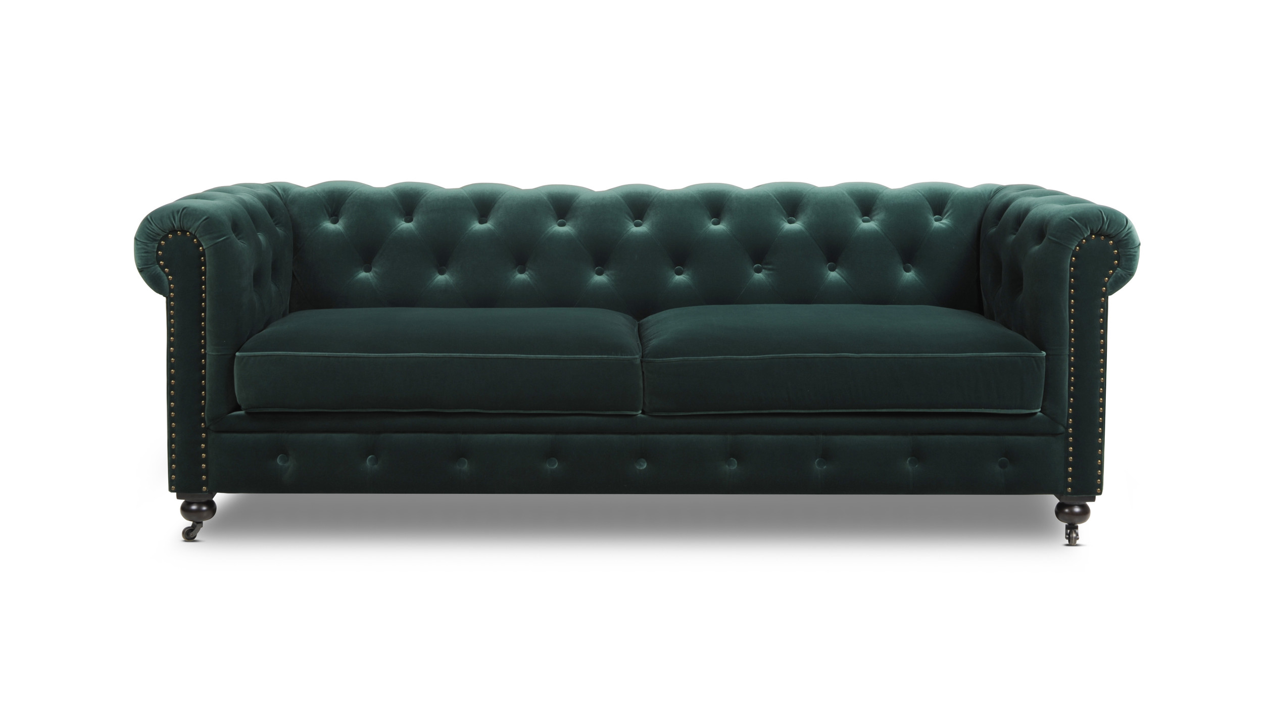 - Winston Tufted Chesterfield Sofa, Forest Green - Jennifer Taylor Home