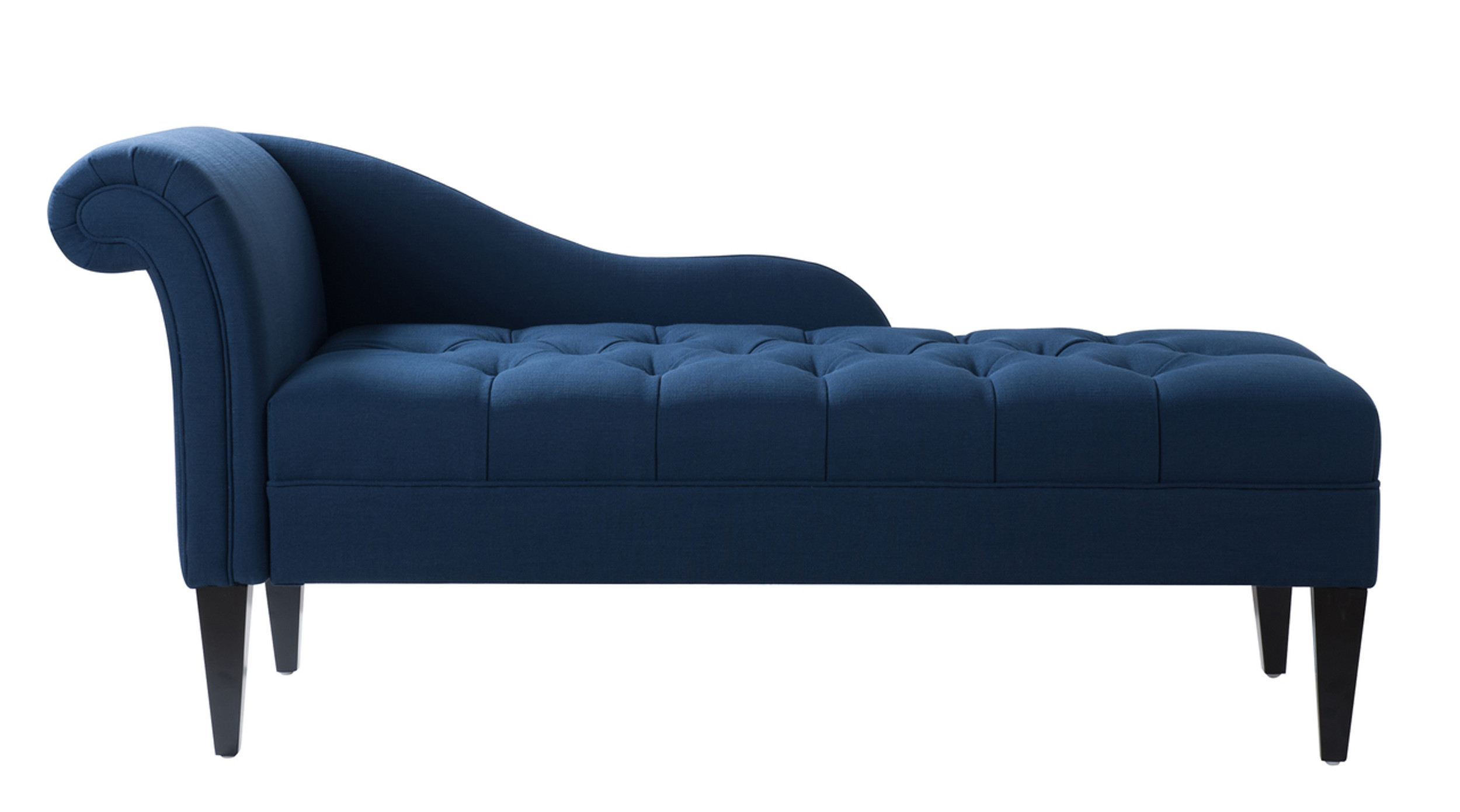 Harrison Tufted Chaise Lounge Midnight Blue Jennifer Taylor Home