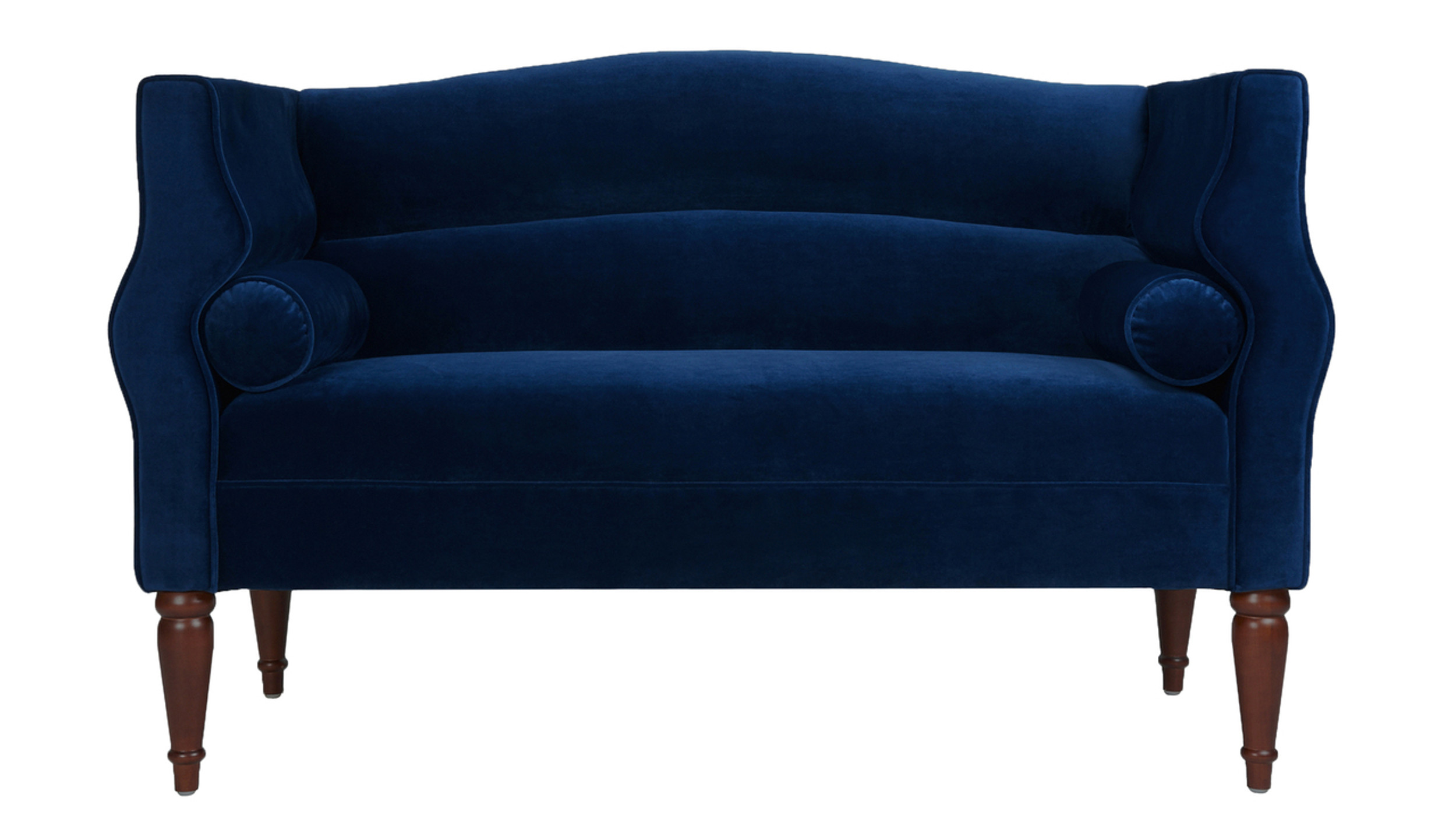Fantastic Joanna Camel Back Uptown Loveseat Navy Blue Onthecornerstone Fun Painted Chair Ideas Images Onthecornerstoneorg