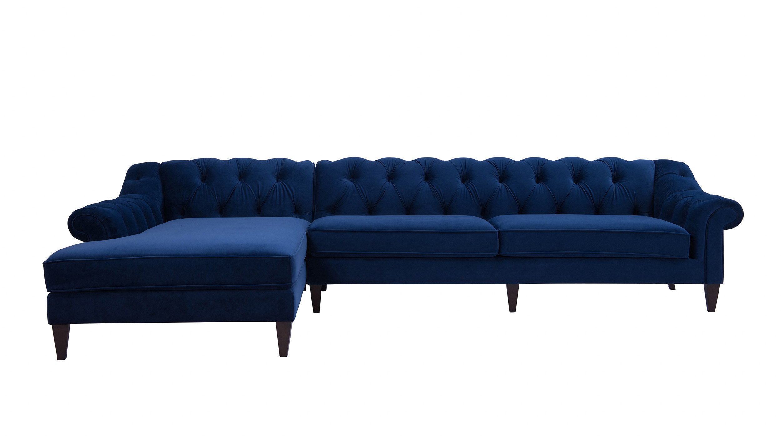 Picture of: Alexandra Tufted Left Sectional Sofa Navy Blue Jennifer Taylor Home