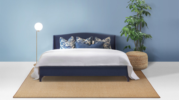 Everly Wingback Platform Bed