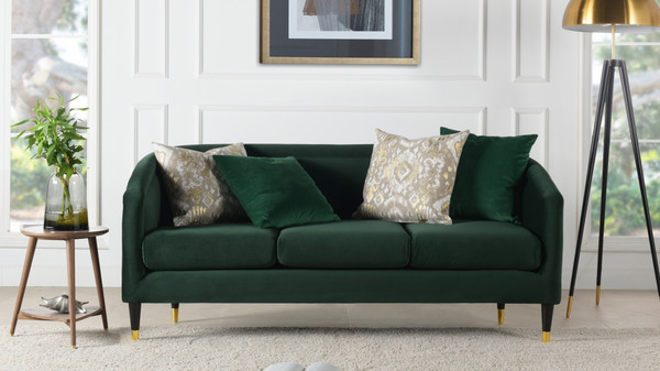 Avri Modern Tuxedo Sofa, Hunter Green