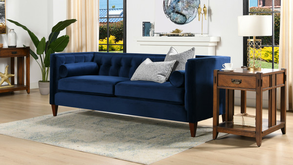 Jack Tuxedo Sofa, Navy Blue