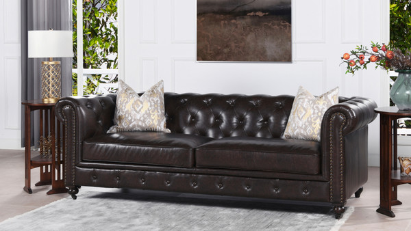 "Winston 91"" Tufted Chesterfield Sofa"