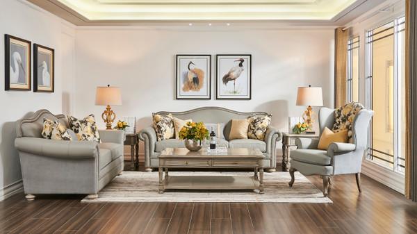 Mara Cashmere Area Rug, Gray & Cream White, 6.5' x 9.5'