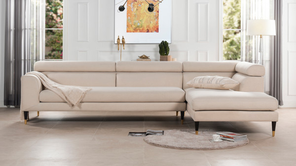 Hayes RAF 2 Piece Modular Sectional Chaise Sofa