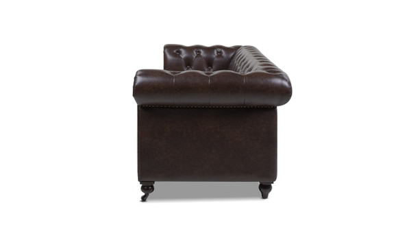 Winston Leather Tufted Chesterfield Sofa, Vintage Brown
