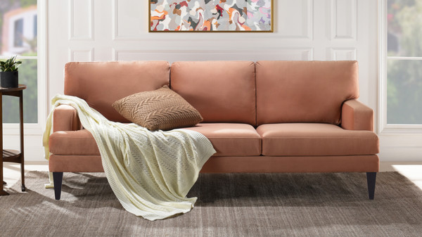 Enzo Lawson Sofa, Peach Orange