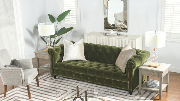 "Alto 88"" Tufted Chesterfield Sofa"