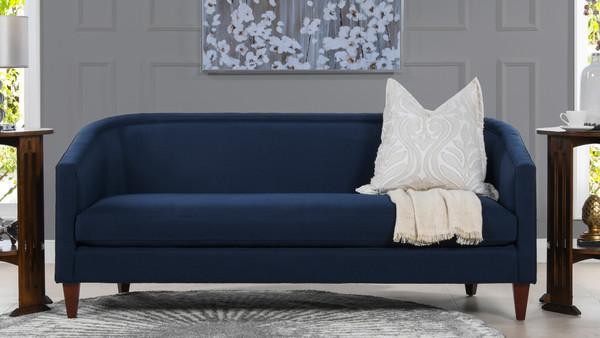 Annette Cabriole Sofa, Midnight Blue