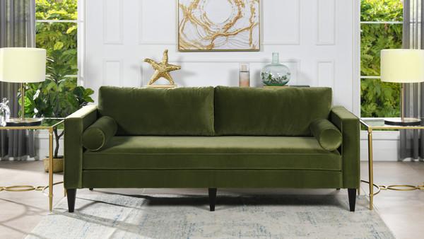 Nicholi Lawson Sofa, Olive Green