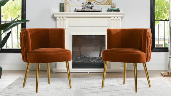 Misty Barrel Accent Chair, Burnt Orange