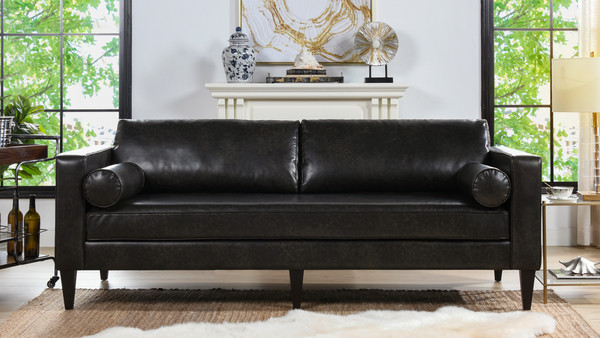 Nicholi Lawson Sofa, Vintage Black Brown