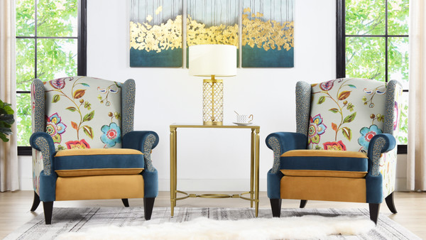 Anya Arm Chair, Floral & Leopard
